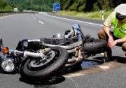 Polizei-Motorradunfall