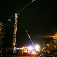 NU vermtl Kabelbrand an Baukran