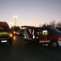 A8 Oberelchingen Autotransporter umgestürzt