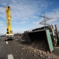 LKW Unfall A7 Vöhringen Hitistetten ohne Verletzte