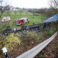 LKW Unfall Unterelchingen