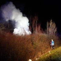 VU Um B30/B28 Fzg ausgebrannt