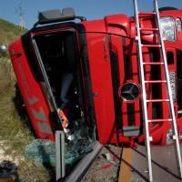 LKW Unfall GZ A8 Ri Burgau