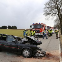 Lammerdingen - Schwerer Verkehrsunfall - Frontalzusammenstoß
