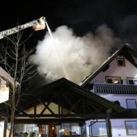 Bad Wörishofen - Brand und Explosion in Pension - Großeinsatz der Feuerwehren