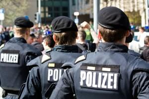 Polizei Polizisten Demo
