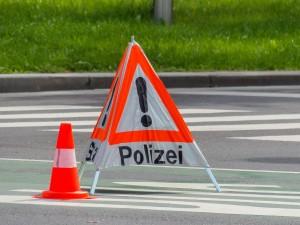 Polizei Unfall Schild