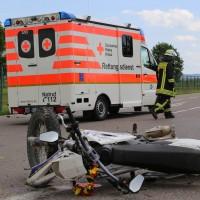 01-07-2016_Biberch_Erolzheim_UNfall_Pkw-Krad_Feuerwehr_Polizei_Poeppel_0002