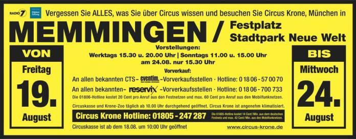 Circus Krone memmingen