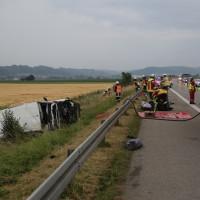 20170625_A7_Groenenbach_Woringen_Kleinbus_Unfall_Feuerwehr_Poeppel_0020