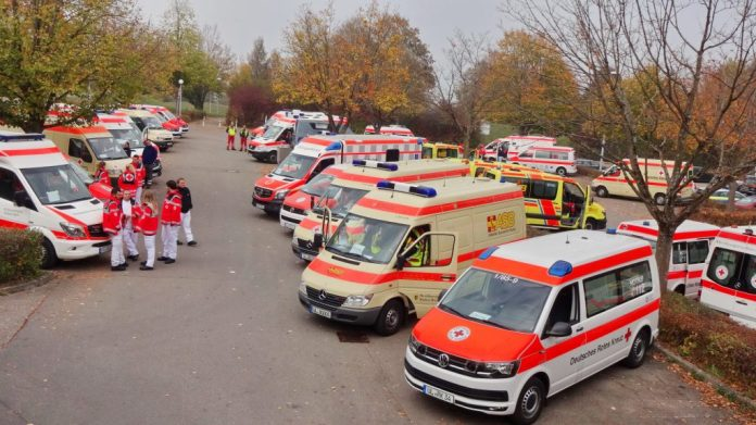 Ulm Rettungsübung Schulzentrum kuhberg