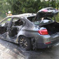 19.07.2019 Brand PKW A96 Bad Wörishofen Mindelheim BMW Totalschaden (9)