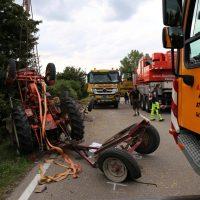 05.08.2019 Unfall Kirchheim Derndorf tödlich 22 Jahre LKW übersieht Traktor (14)