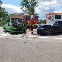 21.06.2020 Unfall B312 Frontal Feuerwehr Rettungsdienst (3)