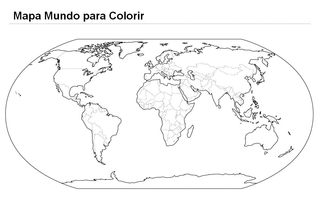 Colorir Desenho Mapa Dos Oceanos