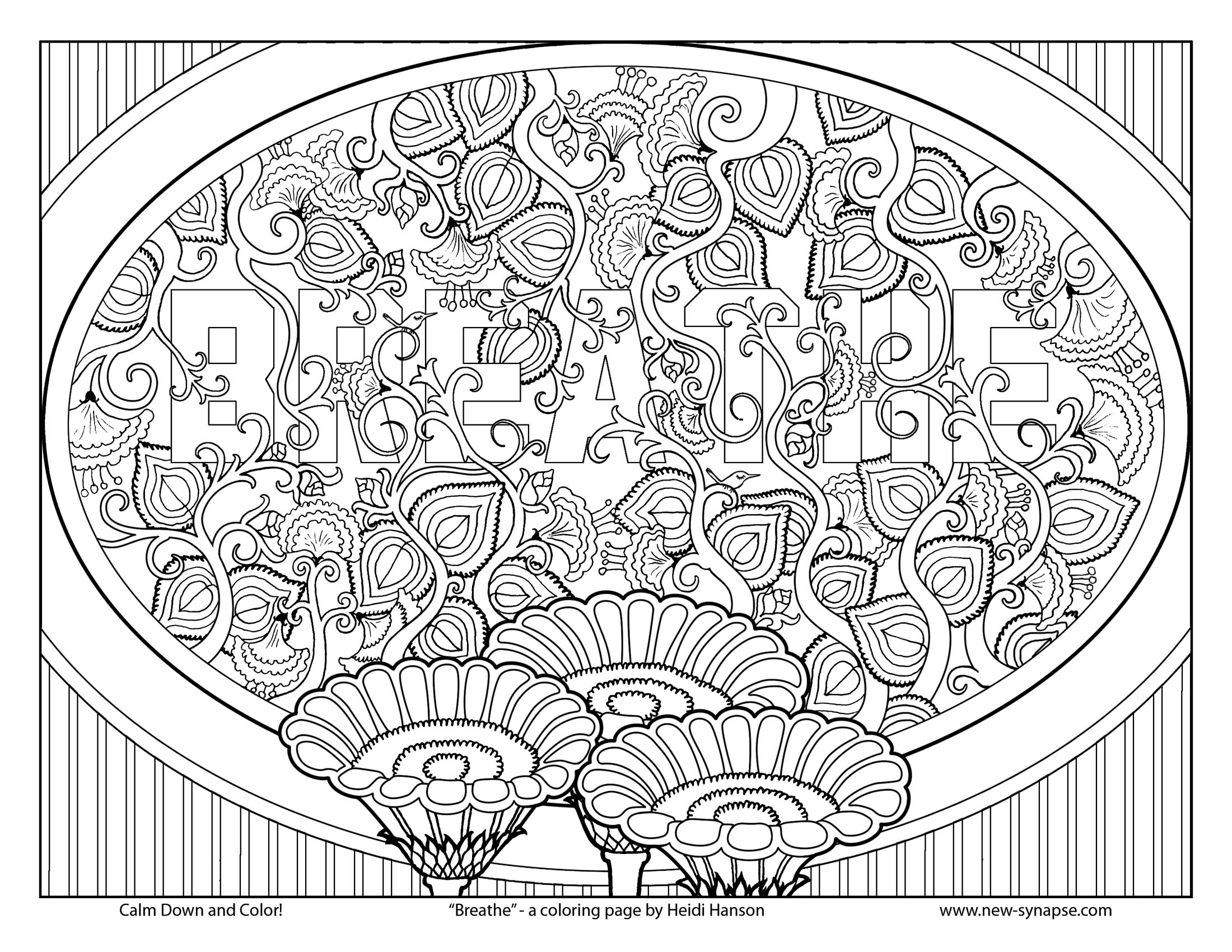Free Coloring Pages for Relaxing De stressing The Art of