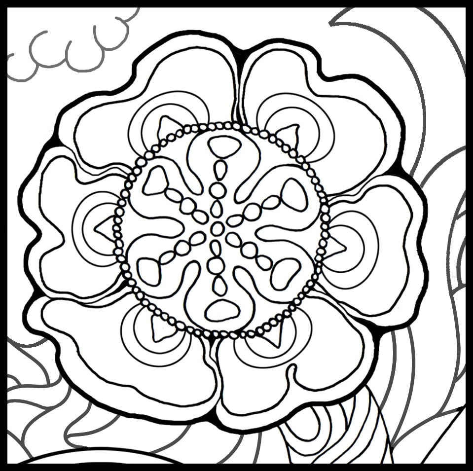 The Art of Healing Trauma Coloring Book-Look Inside the
