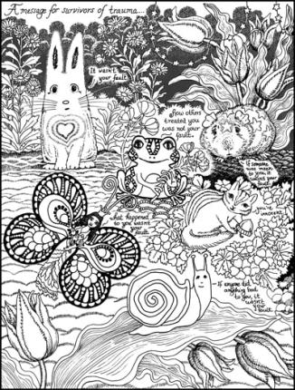 A Message for Trauma Survivors from Forest Creatures Coloring Page