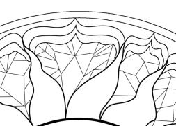 Self-Holding Step 4 Coloring Page geometric patterns around a sun