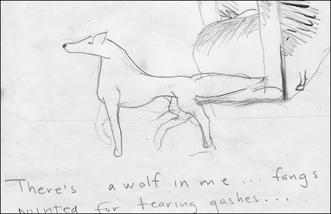 Drawing of a Wolf by a Child