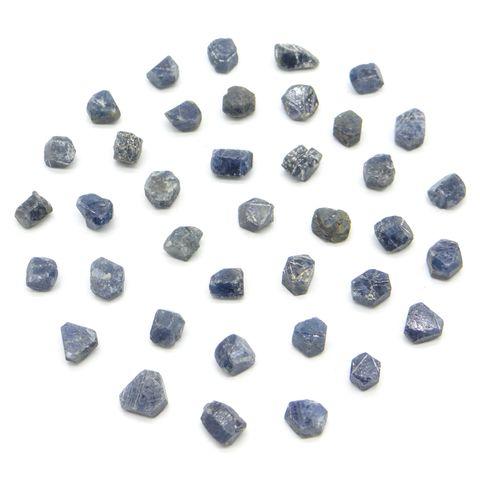 超光速粒子神圣几何六面柱状蓝宝石原矿 3 - 5 ct(单颗) 1