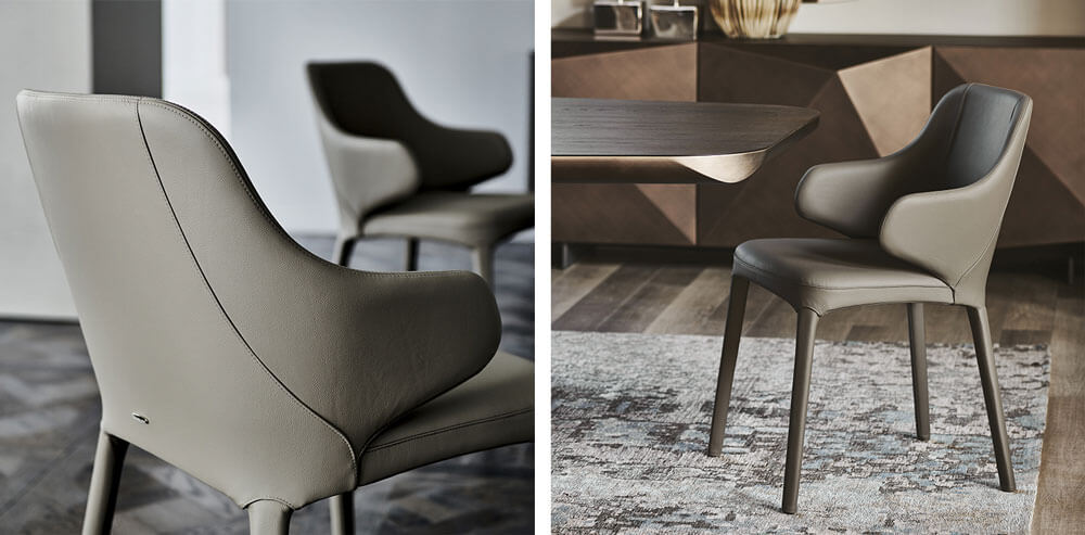 皮革餐椅設計 Cattelan Italia Wanda Dining Chair