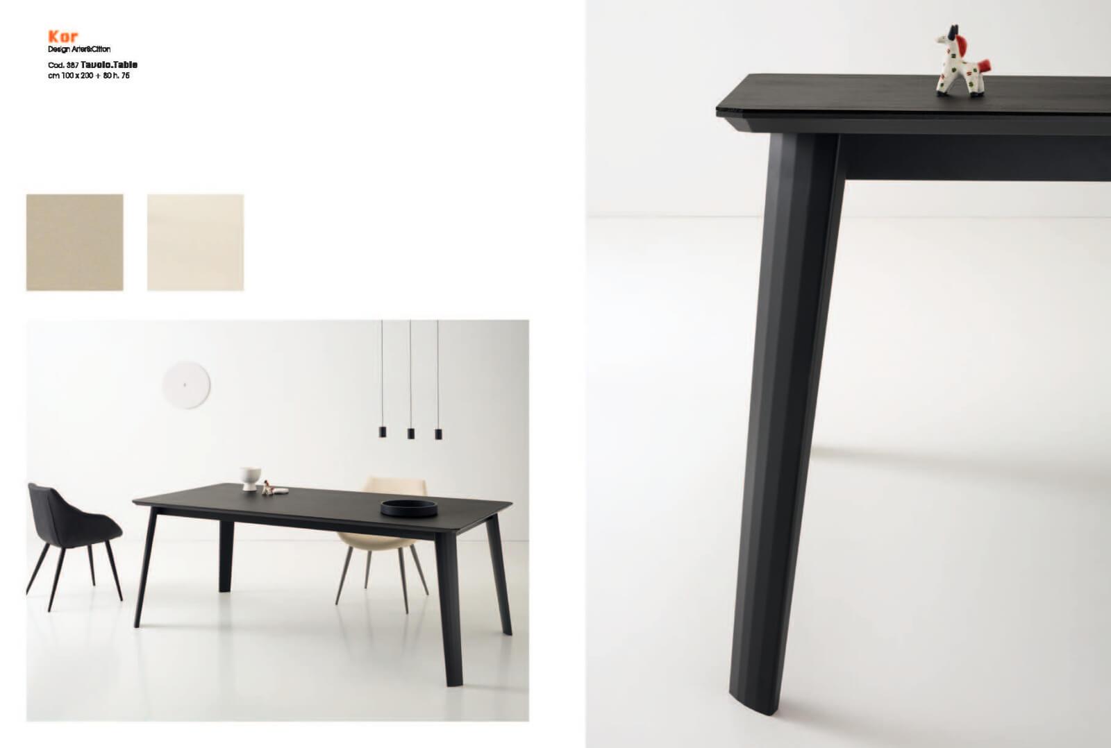 COMPAR 極簡黑色餐桌