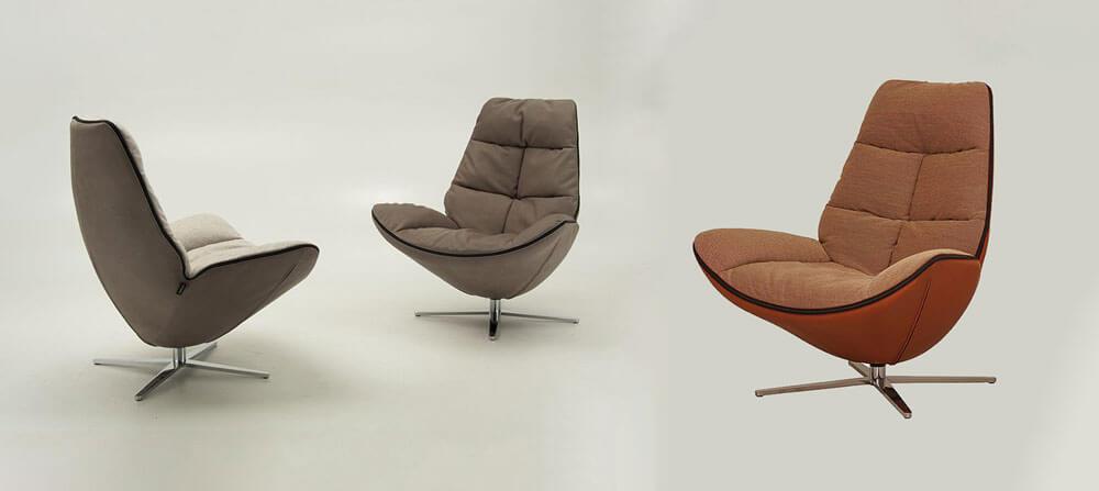 Molinari-Living-MIRÒ極簡風主人椅推薦 義大利進口家具