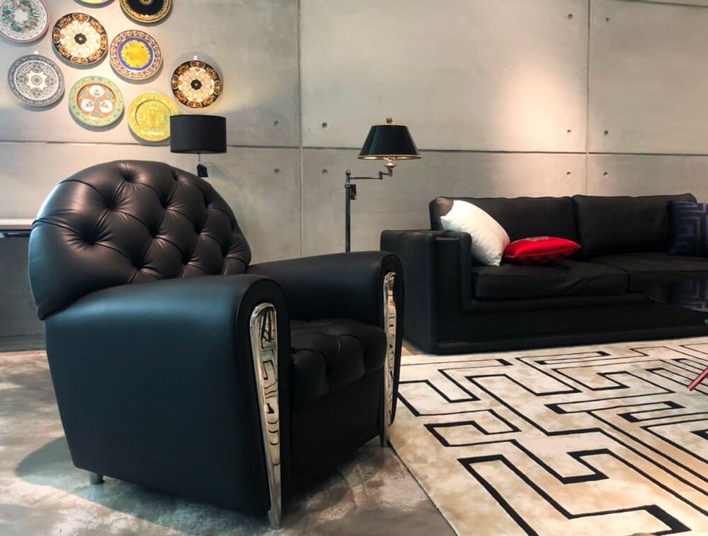 時尚單人沙發推薦 Versace-BACHELOR單人皮革沙發