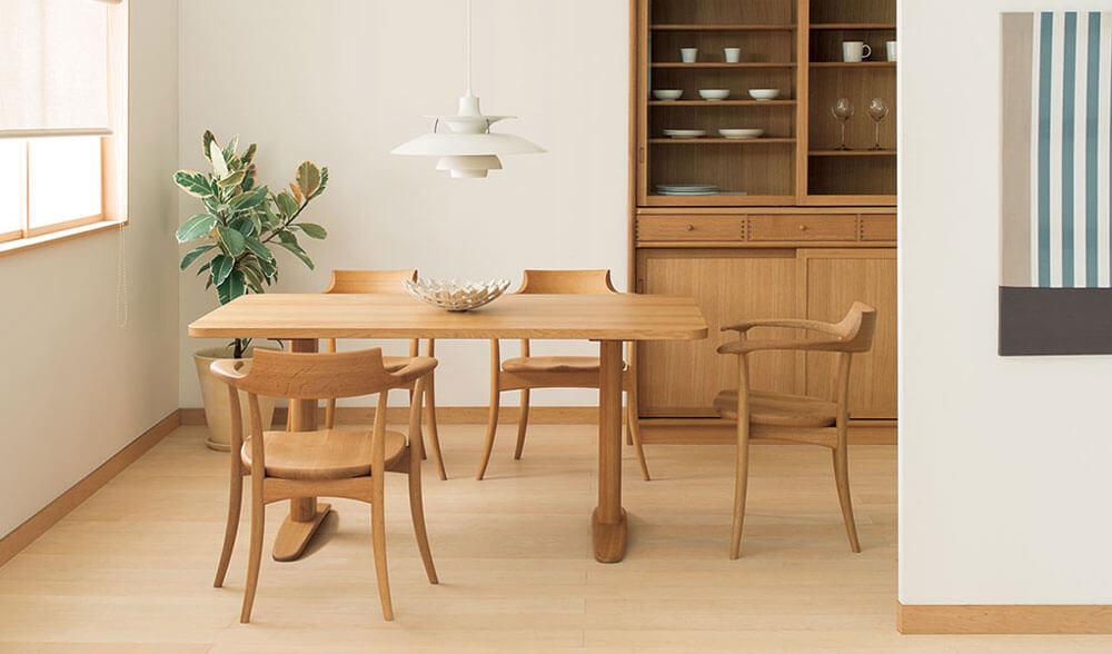 日本進口傢俱品牌 HIDA飛驒產業株式會社 實木餐桌 實木餐椅
