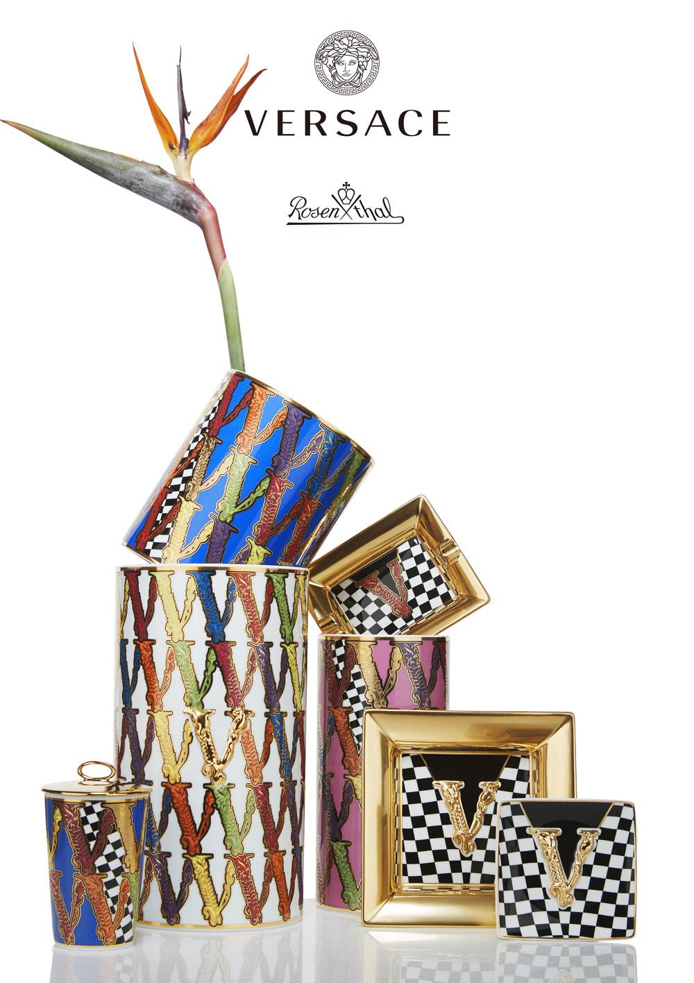 宛如閃閃發亮精品包VIRTUS瓷器,家飾精品推薦 VERSACE x ROSENTHAL