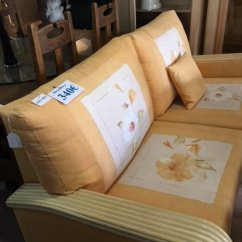 Cream Sofa Arm Covers Ashley Furniture Grey Bed New2you   Second Hand Sofas/sofa Beds For The ...