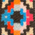Peru pixel multicolor anni 80 da 26mm