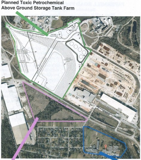 Mega tank farm plans across street from Africatown homes