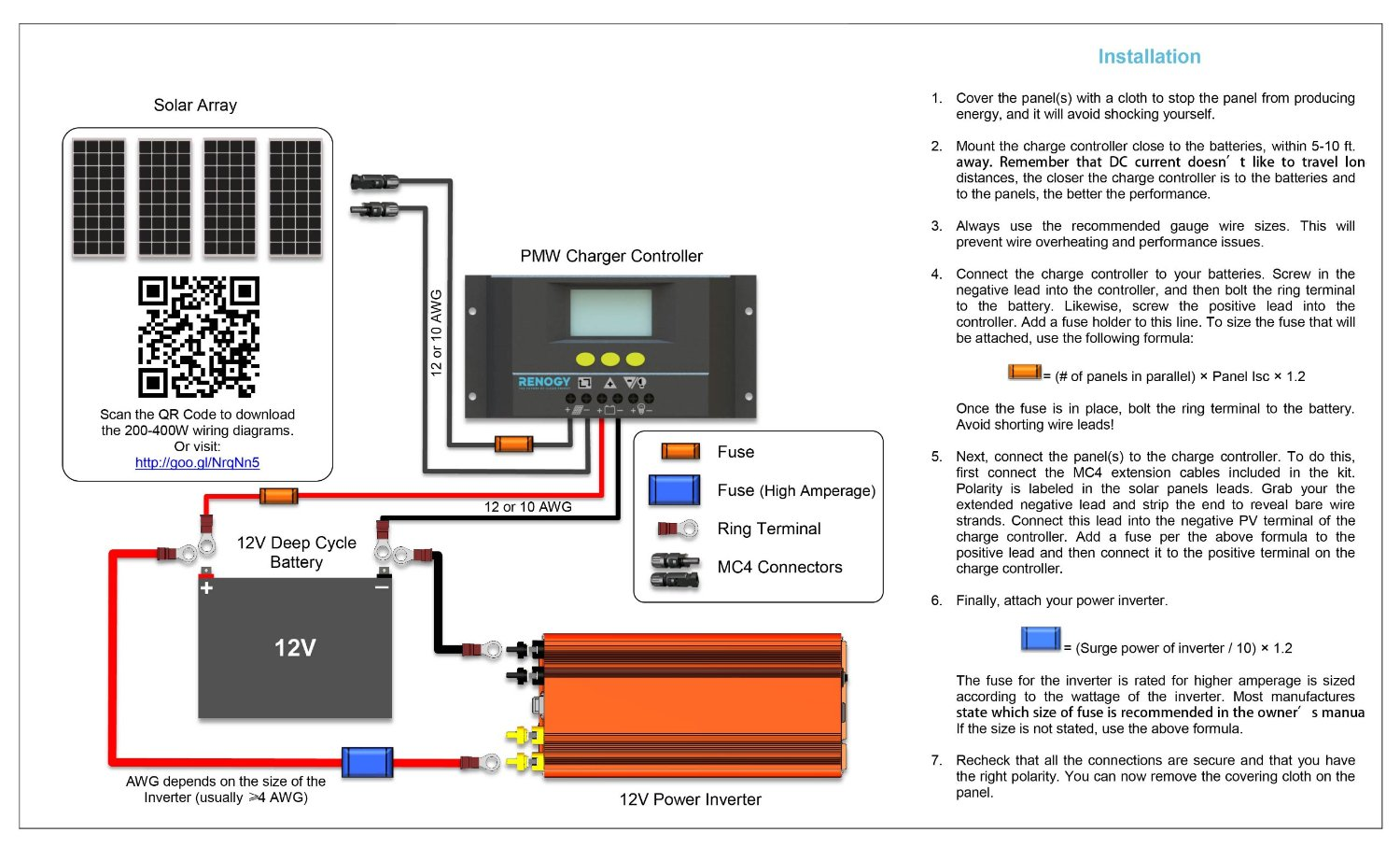solar panel regulator wiring diagram club car battery charger installing panels on your camper van or rv new