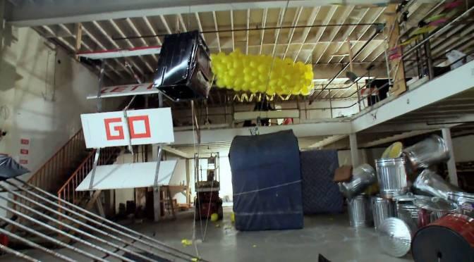 Two Rube Goldberg machine variations