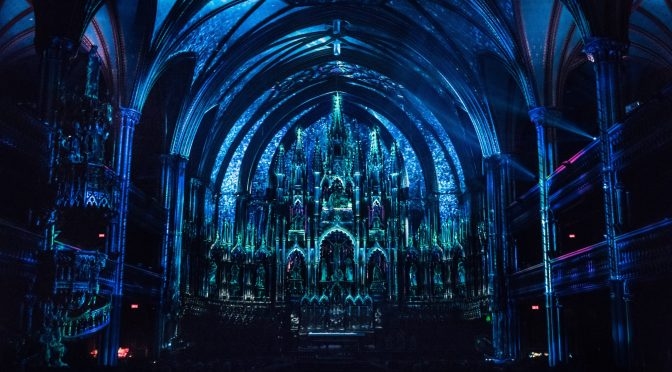 Immersive video mapping in basilica by Modulo Pi