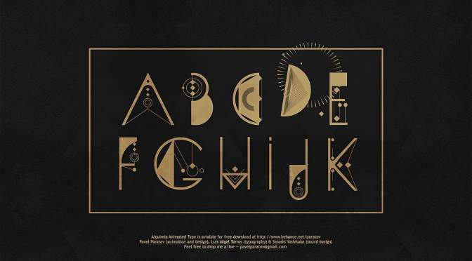 ALQUIMIA Animated Type by Pavel Paratov