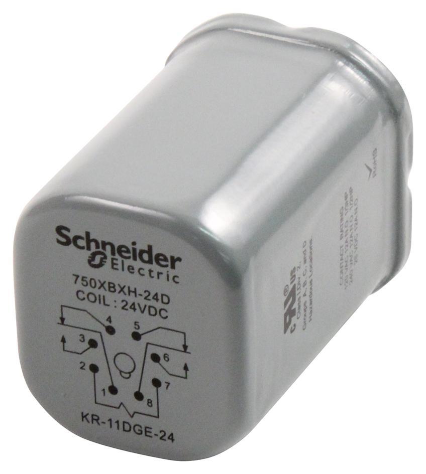 medium resolution of 750xbxh 24d schneider electric legacy relay power relay dpdt 24 vdc