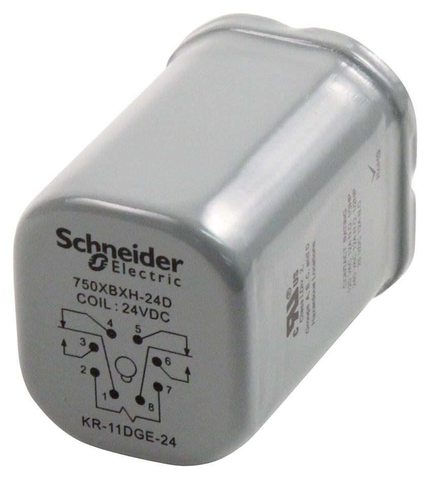 hight resolution of 750xbxh 24d schneider electric legacy relay power relay dpdt 24 vdc