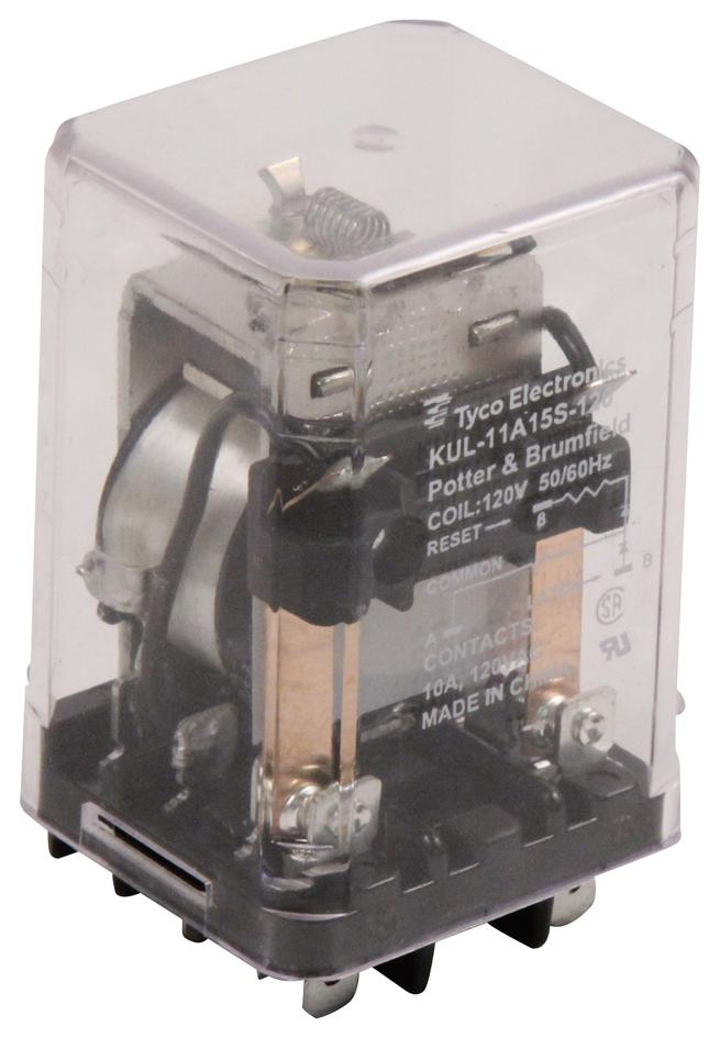 hight resolution of kul 11a15s 120 potter brumfield te connectivity power relay dpdt 120 vac