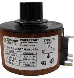 10c superior electric variable transformer 120 vac 2 25 a10c variable transformer [ 1815 x 1806 Pixel ]
