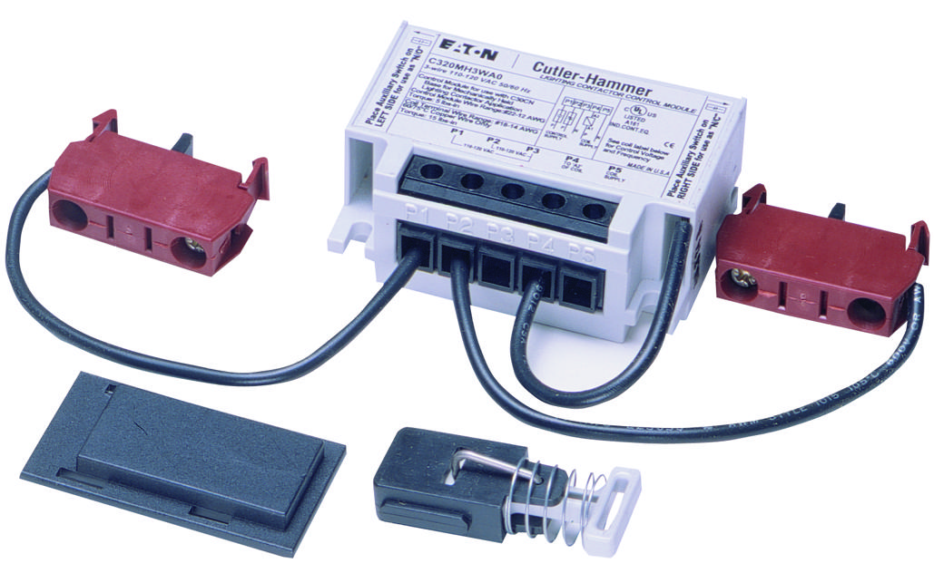 eaton c30cn lighting contactor wiring diagram parallelogram steering system c320mh3wa0 cutler hammer relay accessory 3 wire mechanically held module kit contactors