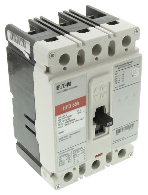 small resolution of hfd3100 eaton cutler hammer thermal magnetic circuit breaker hfd series 100 a