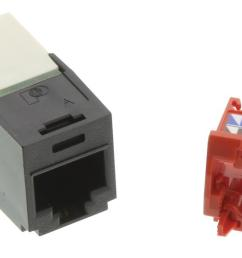 cj5e88tgbl modular connector rj45 wired  [ 2000 x 1228 Pixel ]