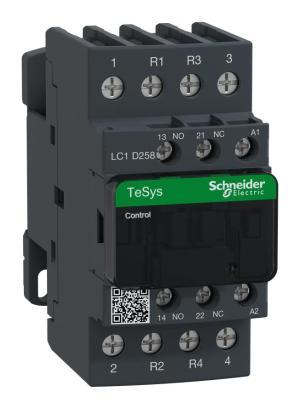 LC1D258G7  SCHNEIDER ELECTRIC  Contactor, DIN Rail, 600 VAC