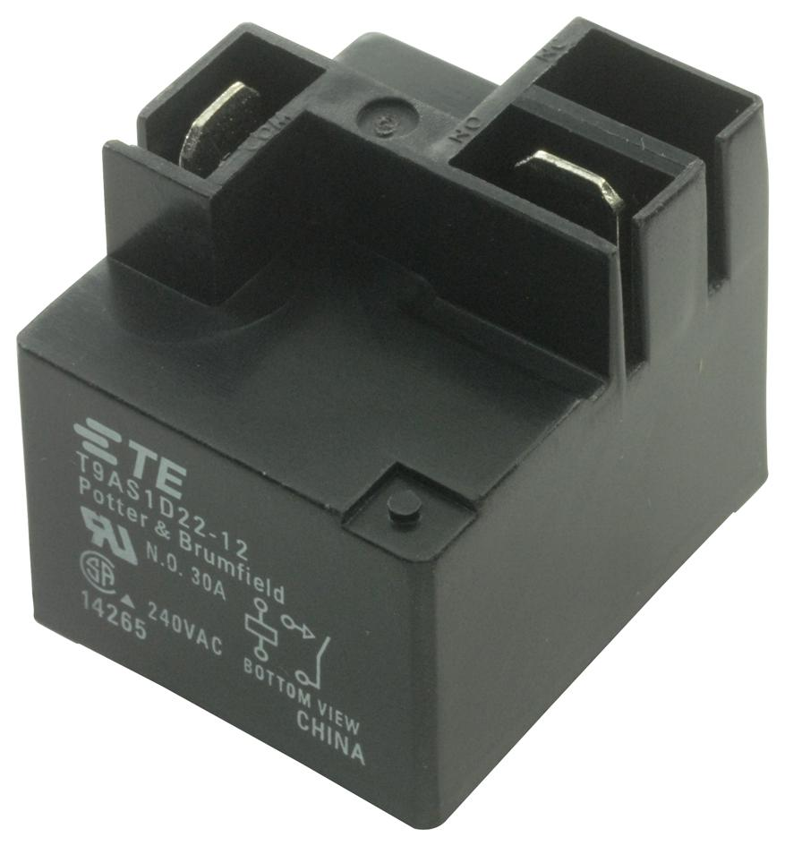 hight resolution of t9as1d22 12 potter brumfield te connectivity power relay spst no 12 vdc
