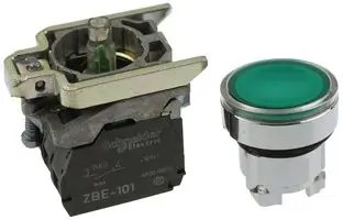 XB4BW33G5  SCHNEIDER ELECTRIC  Industrial Pushbutton Switch Momentary Spring Return Green