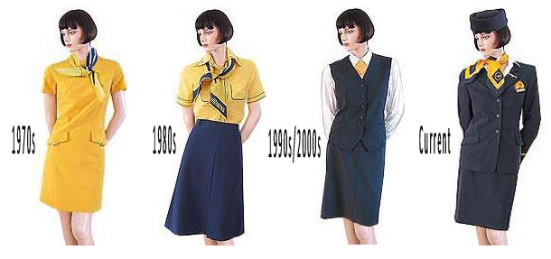 The Evolution Of Flight Attendant Uniforms Part 2