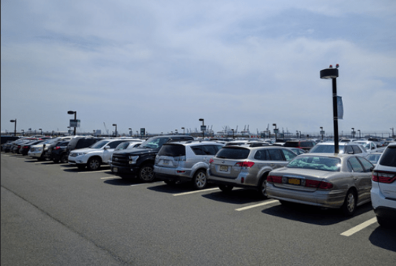 Newark Airport parking lots